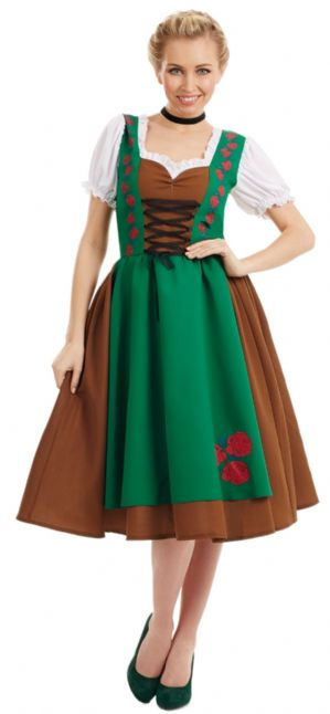 Traditional Bavarian Lady Plus size fancy dress costume Costume (4157)
